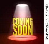 coming soon in stage light on... | Shutterstock .eps vector #422144980