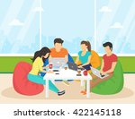group of creative people using... | Shutterstock .eps vector #422145118