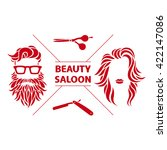 beauty saloon logo  vector... | Shutterstock .eps vector #422147086