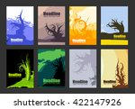 set of simple creative nature... | Shutterstock .eps vector #422147926