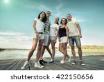group of happiness friends... | Shutterstock . vector #422150656