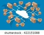 vector modern isometric global... | Shutterstock .eps vector #422151088