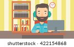 man playing video game. | Shutterstock .eps vector #422154868