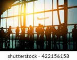 passengers in an airport  | Shutterstock . vector #422156158