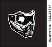 paintball protection helmet... | Shutterstock .eps vector #422159569