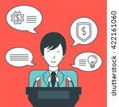 businessman giving speech.   Shutterstock .eps vector #422161060