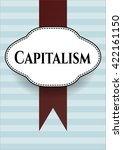 capitalism card or banner | Shutterstock .eps vector #422161150