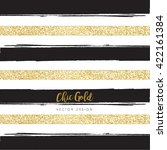 modern chic gold background... | Shutterstock .eps vector #422161384