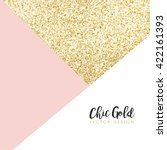 modern chic gold background... | Shutterstock .eps vector #422161393