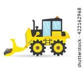 cartoon flat bulldozer vector... | Shutterstock .eps vector #422162968