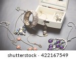 a collection of vintage jewelry ...