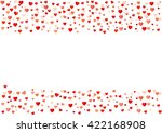 colorful background with heart... | Shutterstock .eps vector #422168908