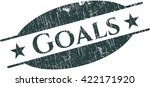 goals rubber stamp with grunge... | Shutterstock .eps vector #422171920