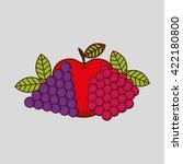 fresh fruit design  | Shutterstock .eps vector #422180800