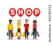 people shopping design  | Shutterstock .eps vector #422182513