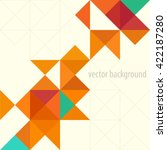 background of geometric shapes. ... | Shutterstock .eps vector #422187280
