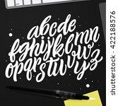 vector alphabet. exclusive... | Shutterstock .eps vector #422188576