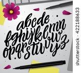 vector set with hand written... | Shutterstock .eps vector #422188633