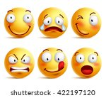 set of smiley face icons or... | Shutterstock .eps vector #422197120