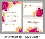 invitation with floral... | Shutterstock .eps vector #422198254