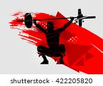 crossfit vector silhouette of... | Shutterstock .eps vector #422205820