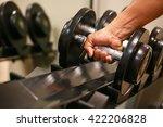sport equipment in fitness room ... | Shutterstock . vector #422206828