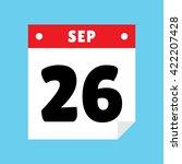 calendar icon flat september 26