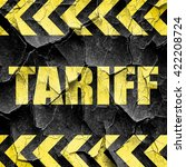 tariff  black and yellow rough...