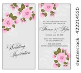 invitation or wedding card with ... | Shutterstock .eps vector #422214520