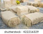 Seats And Table Made Of Straw...