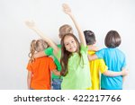 group of friendly childrens... | Shutterstock . vector #422217766
