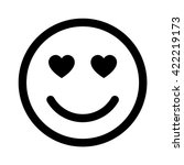 smiley face in love line art... | Shutterstock .eps vector #422219173