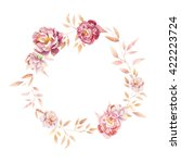 watercolor vintage wreath.... | Shutterstock . vector #422223724