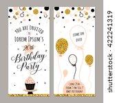 happy birthday vertical... | Shutterstock .eps vector #422241319