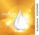 collagen serum  background... | Shutterstock .eps vector #422245600