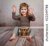 Cute Little Girl With Headband...