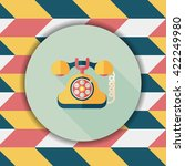 retro telephone flat icon with...   Shutterstock .eps vector #422249980