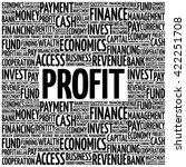 profit word cloud  business...   Shutterstock .eps vector #422251708
