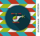 helicopter flat icon with long... | Shutterstock .eps vector #422253034