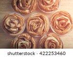 Mini Apple Rose Pies  On Woode...