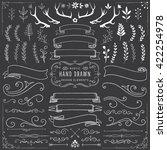chalkboard clipart set   chalk... | Shutterstock .eps vector #422254978