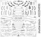 rustic clipart set   rustic... | Shutterstock .eps vector #422254990