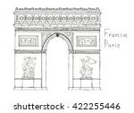 hand drawn architecture sketch... | Shutterstock . vector #422255446
