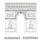 hand drawn architecture sketch... | Shutterstock . vector #422255464
