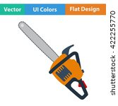 flat design icon of chain saw...