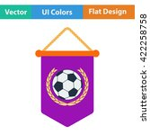 football pennant icon. flat...