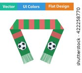football fans scarf icon. flat...