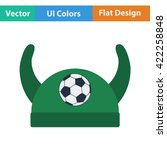 football fans horned hat icon....