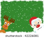 santa claus and rudolph... | Shutterstock .eps vector #42226081