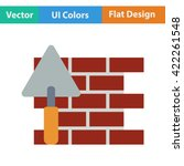 flat design icon of  brick wall ...